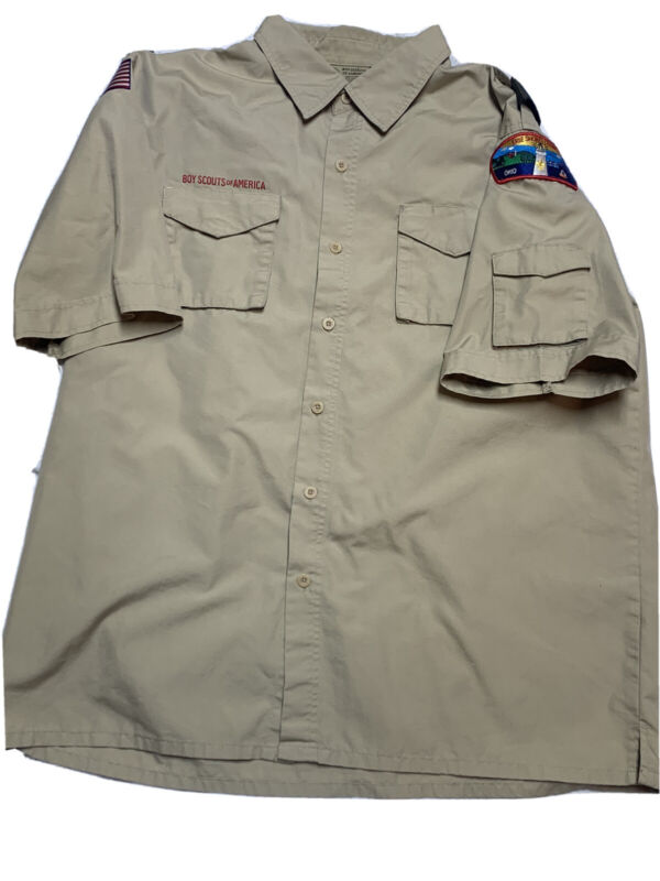 Boy Scouts Of America Short Sleeve Button Front Shirt Adult XL