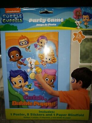 Deema Bubble Guppies (BUBBLE GUPPIES Birthday Party GAME Deema Gil 1 poster 8stickers 1 blindfold)