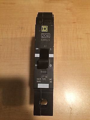 Edb14020 Square D 20 Amp 1 Pole Breaker