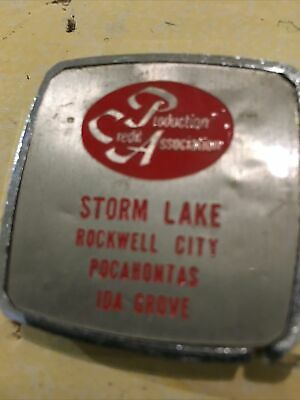 Vintage Advertising Tape Measure Production Credit Assoc Storm Lake Iowa IA