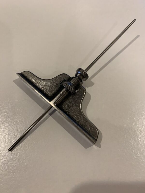 Early Antique Micrometer Depth Gage Patent 1887 J. B. Renshaw Machinist Tool