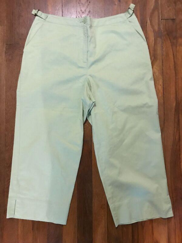 Chapter Club Golf Womens Size 12 Light Green Natural Stretch Golf Pants