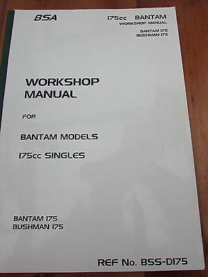 BSA 175 cc Bantam Workshop Manual Bantam/Bushman Singles