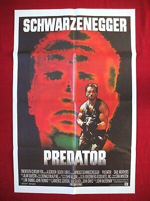 PREDATOR * 1987 ORIGINAL MOVIE POSTER 1SH INT'L ARNOLD SCHWARZENEGGER HALLOWEEN
