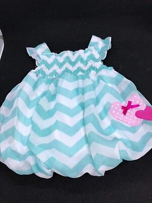BON BEBE infant girl Pillow Dress 6-9 months with Geometric lines