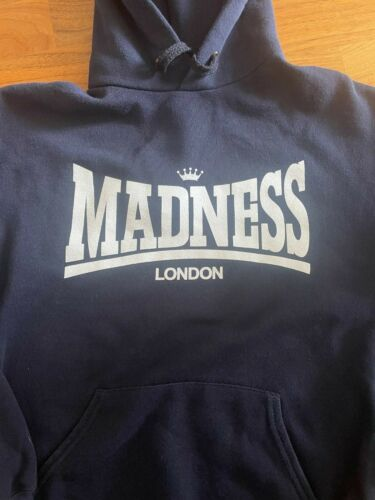 Madness London Hoodie Navy Size Small