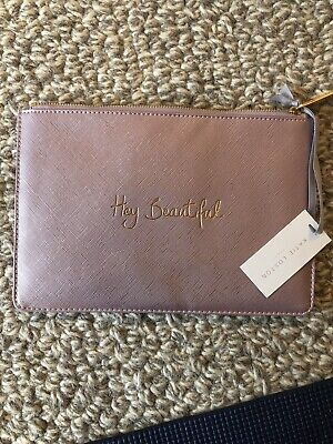 Katie Loxton Pouch. Metallic Pink. Never Used. Hey Beautiful