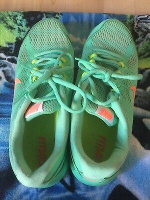 Nike Dual Fusion Run 3 Running Shoes 653594-300 Green Glow Bright women  size 7 e319a279a