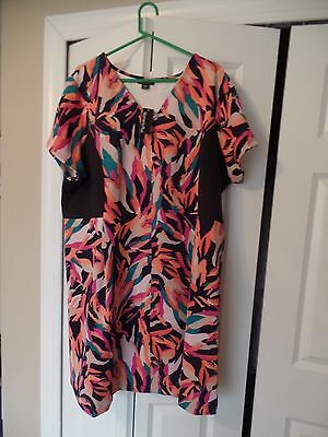 Women's Plus, Metaphor, Casual Classic Dress,Bold-Bright Colors, Size:3X, NWT