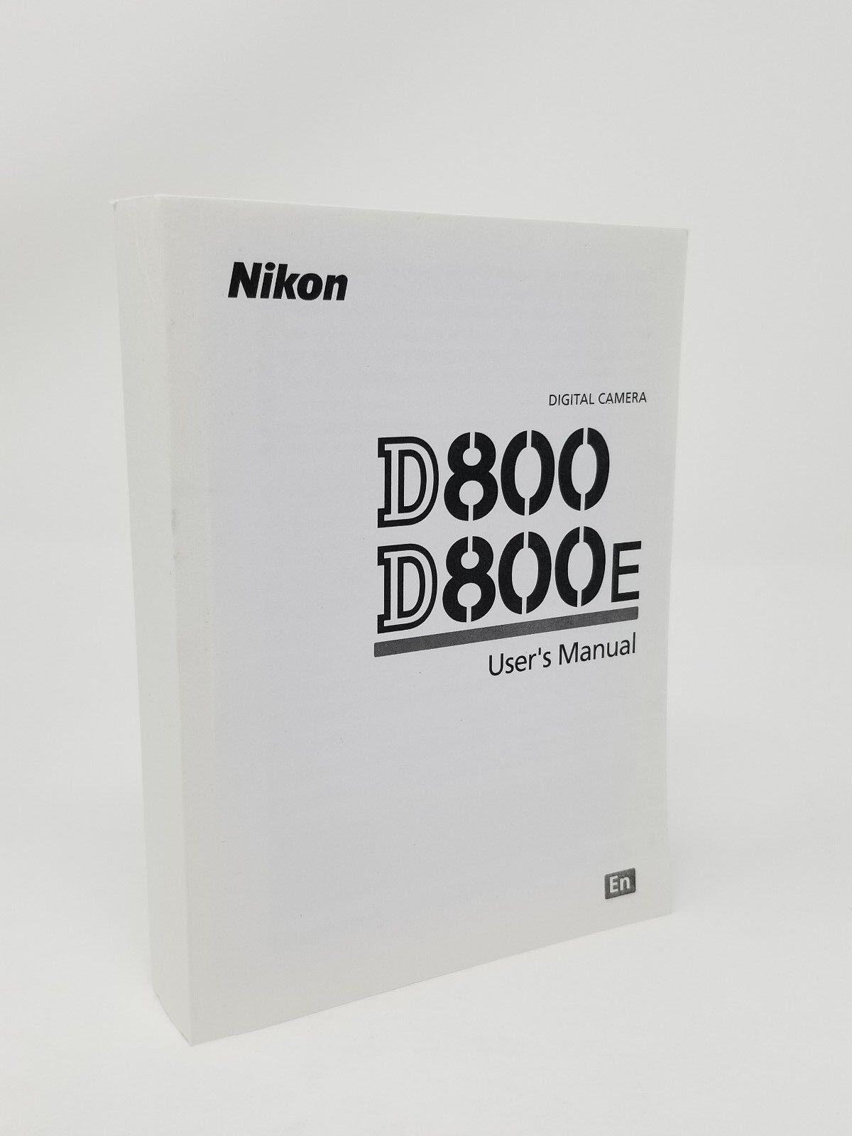 nikon d800 d800e genuine instruction owners manual book original new rh bayshop com nikon d800 user manual pdf nikon d800e user manual