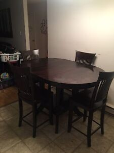 Canadel - Counter Height table and 4 chairs