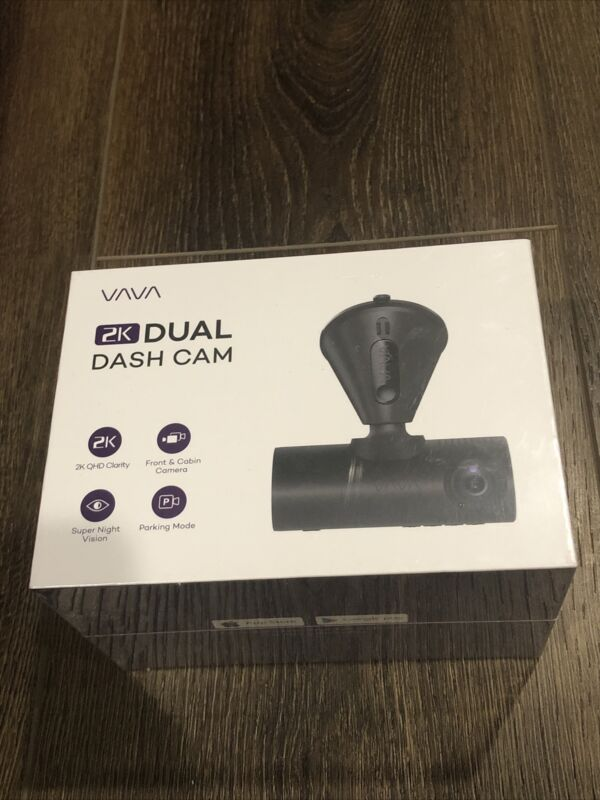VAVA 2K Dual Dash Cam - Brand New & Sealed