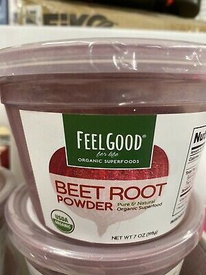 Feel Good For Life Organic Superfoods Beet Root Powder Pure and Natural Organic Pure Life