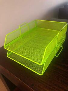 A4 Wire Document Filing trays x 2 (Green) Newcastle East Newcastle Area Preview