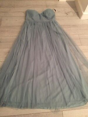 Jenny Yoo Annabelle Bridesmaid Party Prom dress, Ciel Blue, UK 16-18, Modified