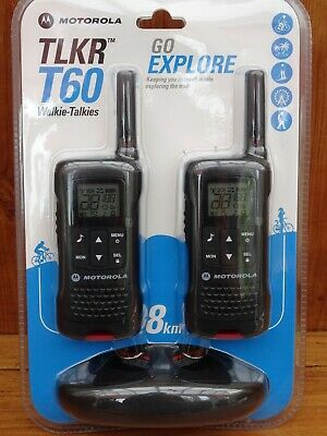 Motorola. TLKR T60. Two Way Radio Twin Pack.
