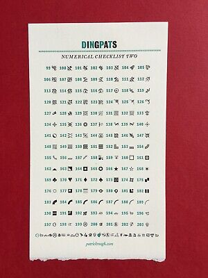 """New Letterpress Type- 12pt. DingPats 2. Hit """"Contact Seller"""" for desired choices"""