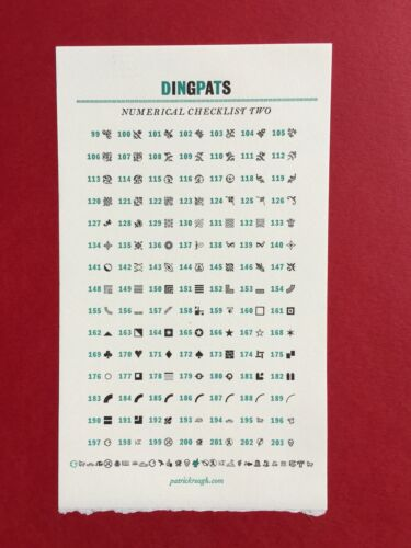"New Letterpress Type- 12pt. DingPats 2. Hit ""Contact Seller"" for desired choices"
