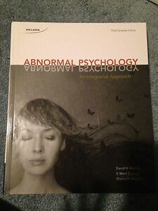 Abnormal Psychology: An Integrative Approach 3rd Canadian Ed.