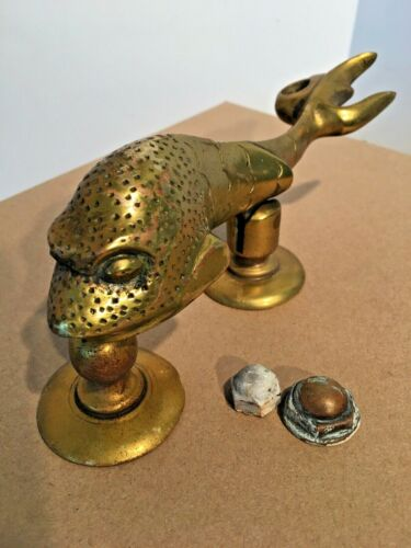 Vintage Heavy Brass Door Knocker Architectural Hardware Fish Dolphin from Malta