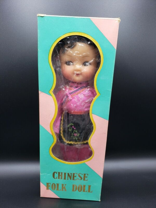 Vintage Chinese Folk Doll Made in People