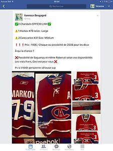 Chandail officiel LNH