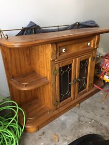 Antique cabinet with lights