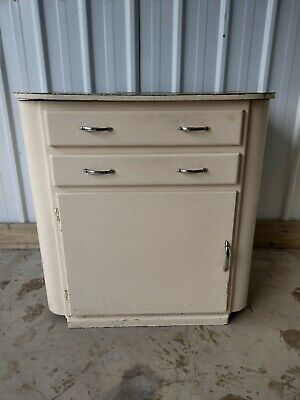 VINTAGE RETRO STUNNING RARE FREE STANDING KITCHEN CABINET CUPBOARD WITH DRAWERS