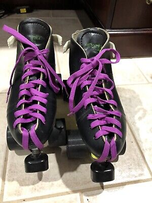 Dominion BOOTS  Roller SPEED SKATES QUADS Sz 9/9.5