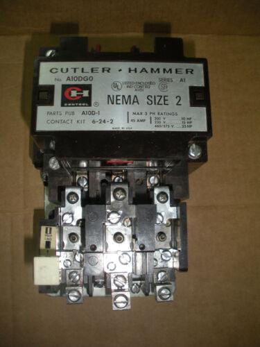 Cutler Hammer  size 2 starter A10DG0 ser A1 120vac coil 25HP@480V 45A A10DGO