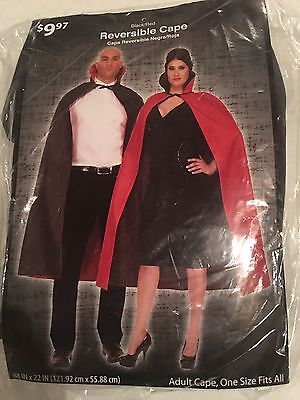 Halloween Costume Men's Woman Reversible Cape Red Or Black One Size - Black Halloween Costumes For Men