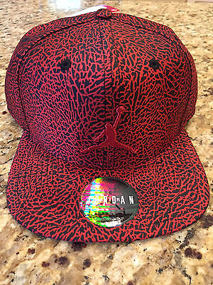 Men's Nike Air Jordan Jumpman Snapback Deep Red/Black Elephant Print 776311-010
