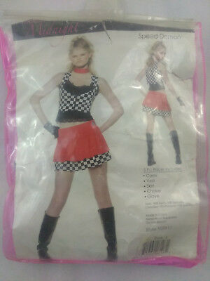 Seven Til Midnight Women's Halloween Costume Speed Demon Racer Girl - Speed Demon Halloween Costume