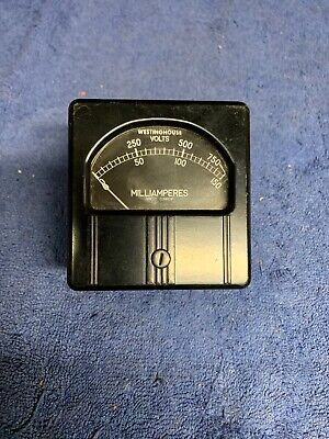 Vintage Westinghouse Rca Milliamperes Direct Current Gauge