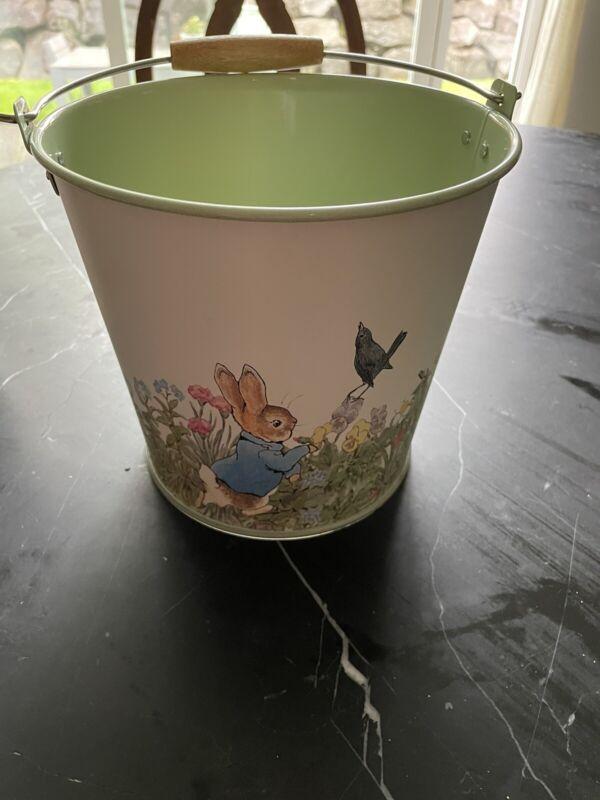 Pottery Barn Peter Rabbit Metal Bucket