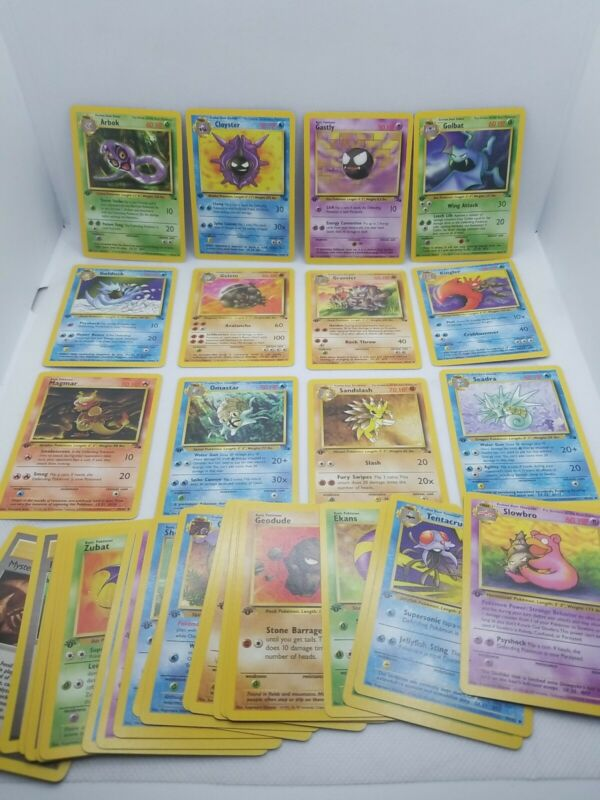 1999 Pokemon Fossil 1st Edition - 32 Card Complete Set  # 31-62  Pack Fresh !!!