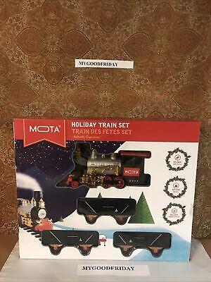 NEW MOTA Classic Holiday Christmas Train Set Real Smoke, Lights & Sound Full Set
