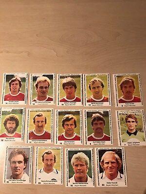 14  Kaugummi Bilder Fußballbilder Americana 1980 BAYERN MÜNCHEN NO Panini