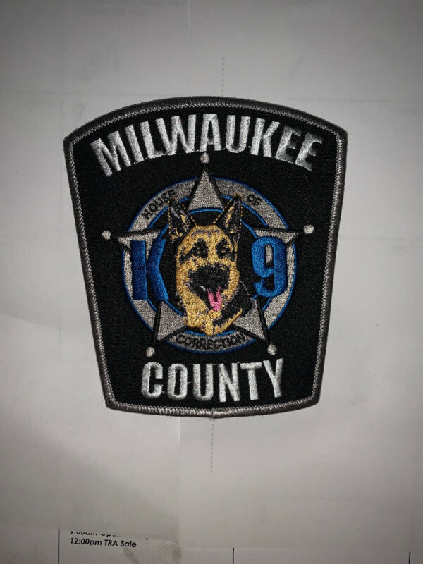 Ultra Rare Milwaukee County House Of Correction K9 Unit Patch Very Hard To Get