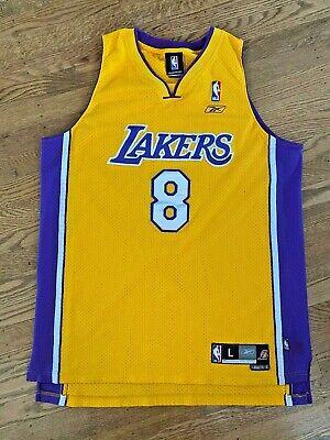 VTG Kobe Bryant L.A. Lakers Swingman Jersey Reebok Size Large +2 #8 NBA Sewn