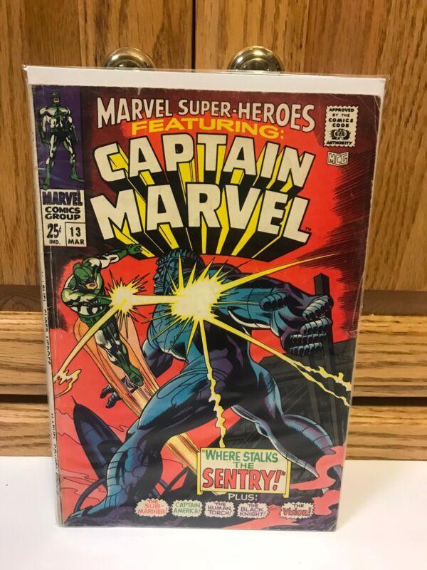 1967 Silver Age Marvel Super-Heroes #13 Captain Marvel Key 1st Carol Danvers!