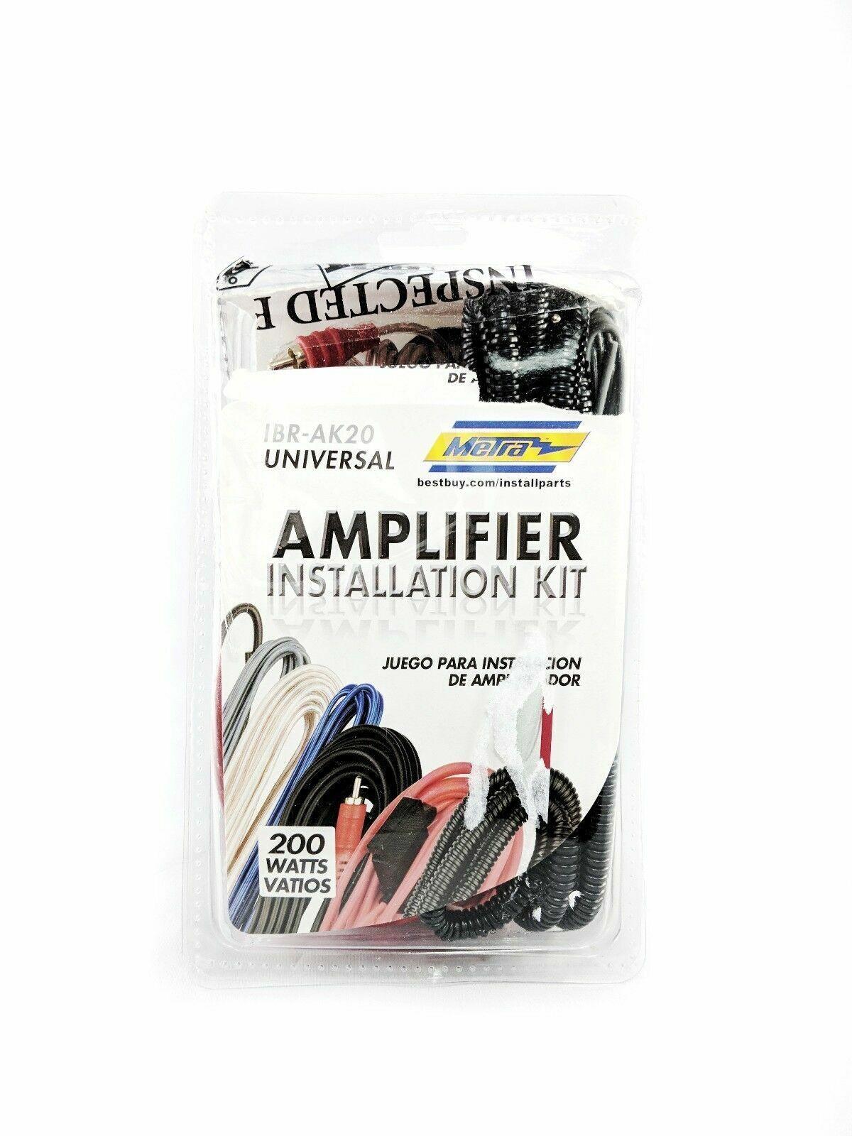 Authentic Metra Ibr-ak20 200w Amplifier Installation Kit Fast