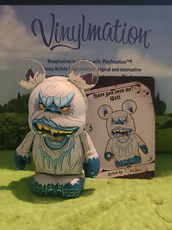 "DISNEY Vinylmation 3"" Park Set 1 Myths and Legends Yeti with Card"
