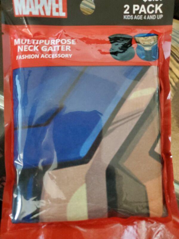 Marvel Captain America Multipurpose Neck Gaiter 2-Pack Kids 4+ New