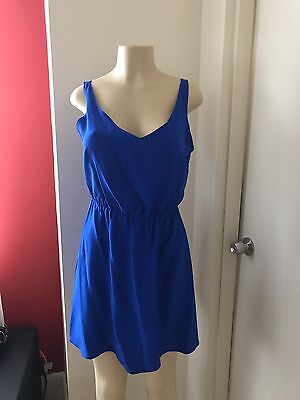 Amanda Uprichard Summer  Cocktail  Silk Royal Blue Dress Small Revolve Clothing