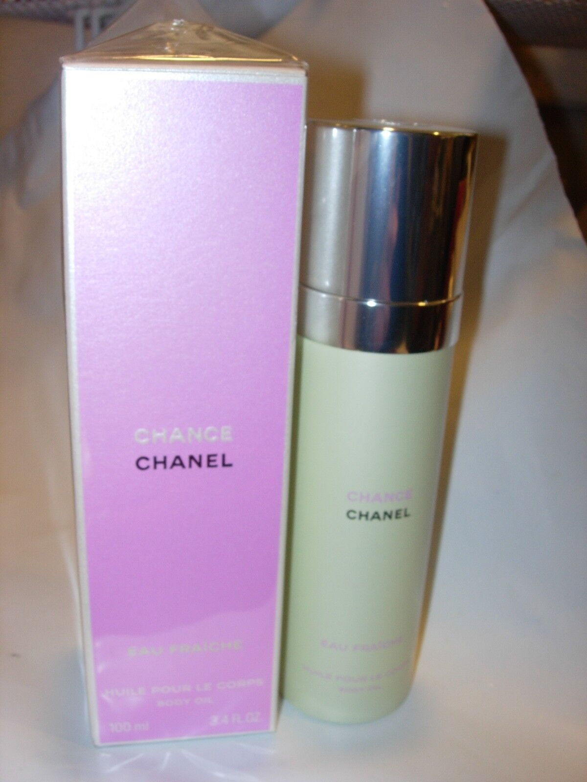 06be8b1dd40 CHANEL CHANCE EAU FRAICHE BODY OIL SPRAY PERFUME SCENTED MIST 100 ml 3.4 oz  фото