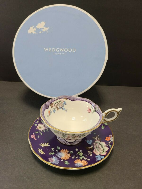 Wedgwood Teacup And Saucer Midnight Crane