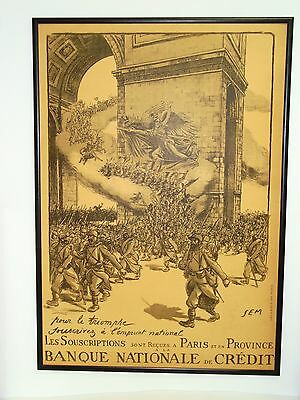 "1 of 4 * WWI Poster * La Marseillaise ""Genius of Liberty"" Urging Troops On"