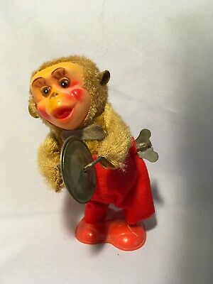 Vintage Cymbal Playing Monkey Vintage Wind Up Toy - Cymbal Playing Monkey
