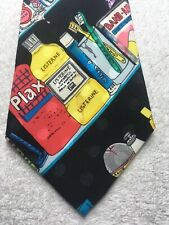NICOLE MILLER MENS TIE LISTERINE BAND AID ICY HOT KY VICKS